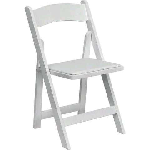Where to find CHAIR, FOLDING WHITE RESIN in Hayden